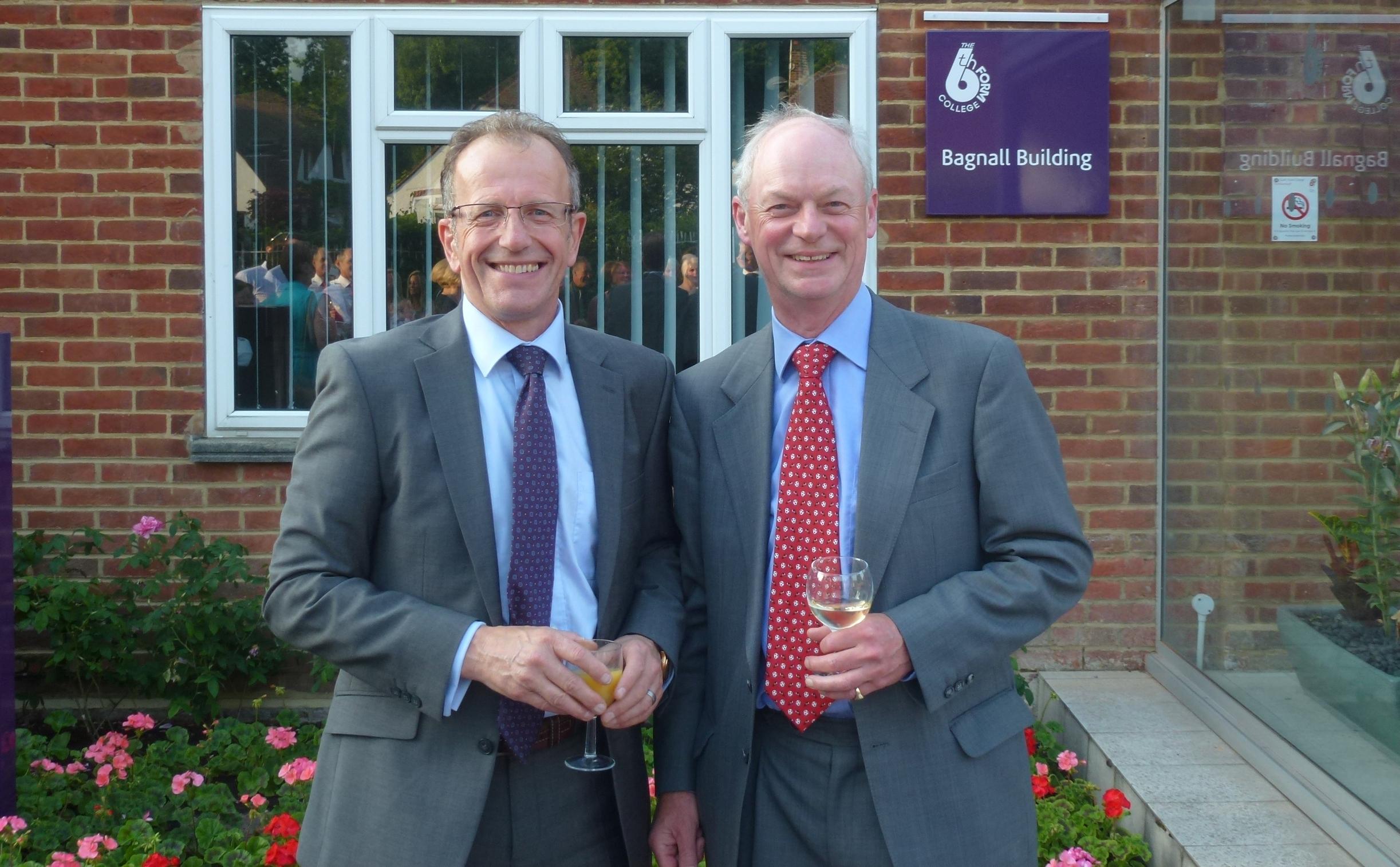 Principal Simon Jarvis with William Bagnall